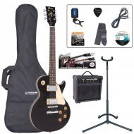 E99 ELEKTRIČNA GITARA (LP) PAKET - GLOSS BLACK / WINE RED / CHERRY SUNBURST