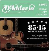 Set žica za akustičnu gitaru Medium Light 12-54 - EZ 920
