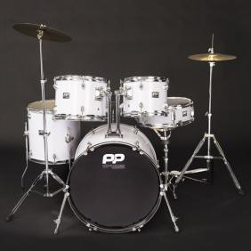 PP220WH DRUMS 5PC FUSION DRUM KIT - WHITE - 1