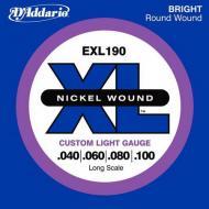 Set žica za bas gitaru Custom Light 40-100 - EXL 190